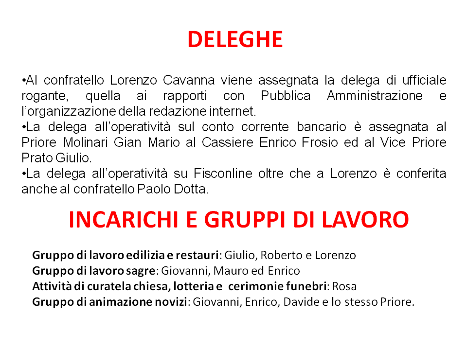 Deleghe e gruppi